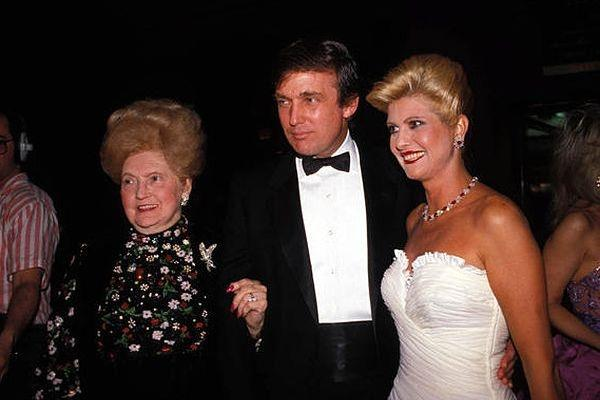 Mary Anne Trump with son Donald and his then wife Ivana in the 1980s
