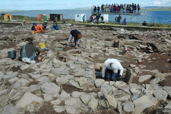 Experts have been excavating the Ness of Brodgar site on Orkney since 2002