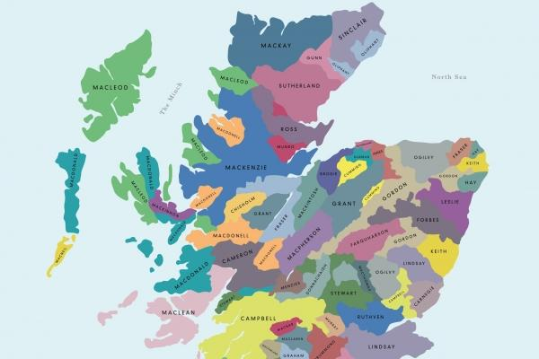Scottish Clan Map Profile: The interactive clan map, a guide to Scottish families