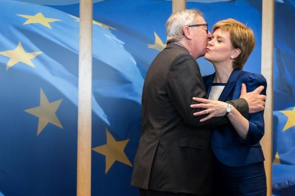 First Minister Nicola Sturgeon with Jean-Claude Juncker