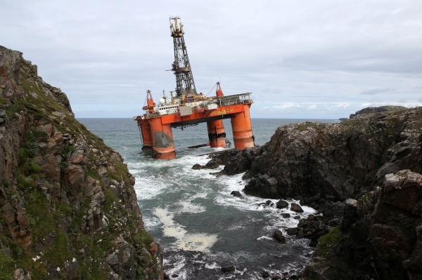 The Transocean Winner ran aground on coast just off Lewis