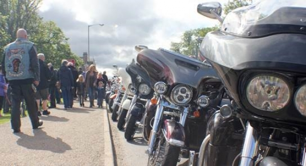 Bikes line up at last year's Thunder in the Glens