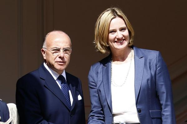 Cazeneuve, left, made the comments ahead of his meeting with Rudd, right