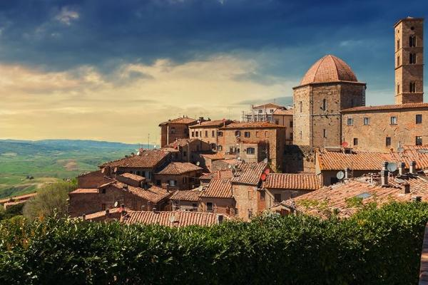 Volterra has a legacy of Etruscan, Roman and medieval buildings that drones are being used to visually document