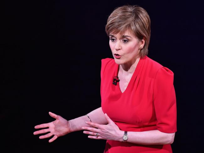 Nicola Sturgeon spoke at the annual Aberdeen Asset Management conference in London