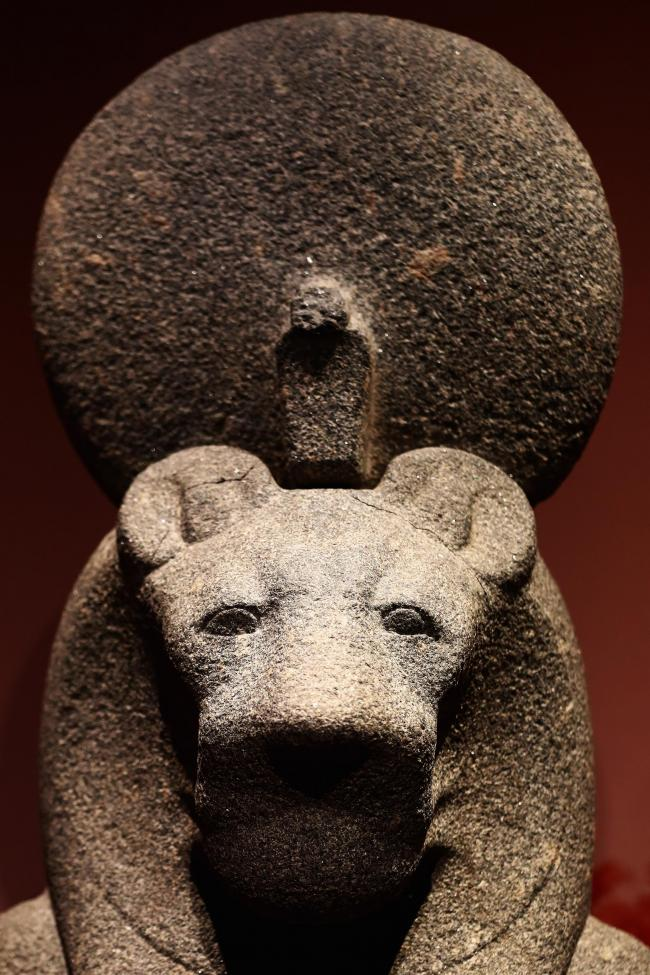 The Goddess Sekhmet,part of the extensive 'Queens of the Nile' exhibit