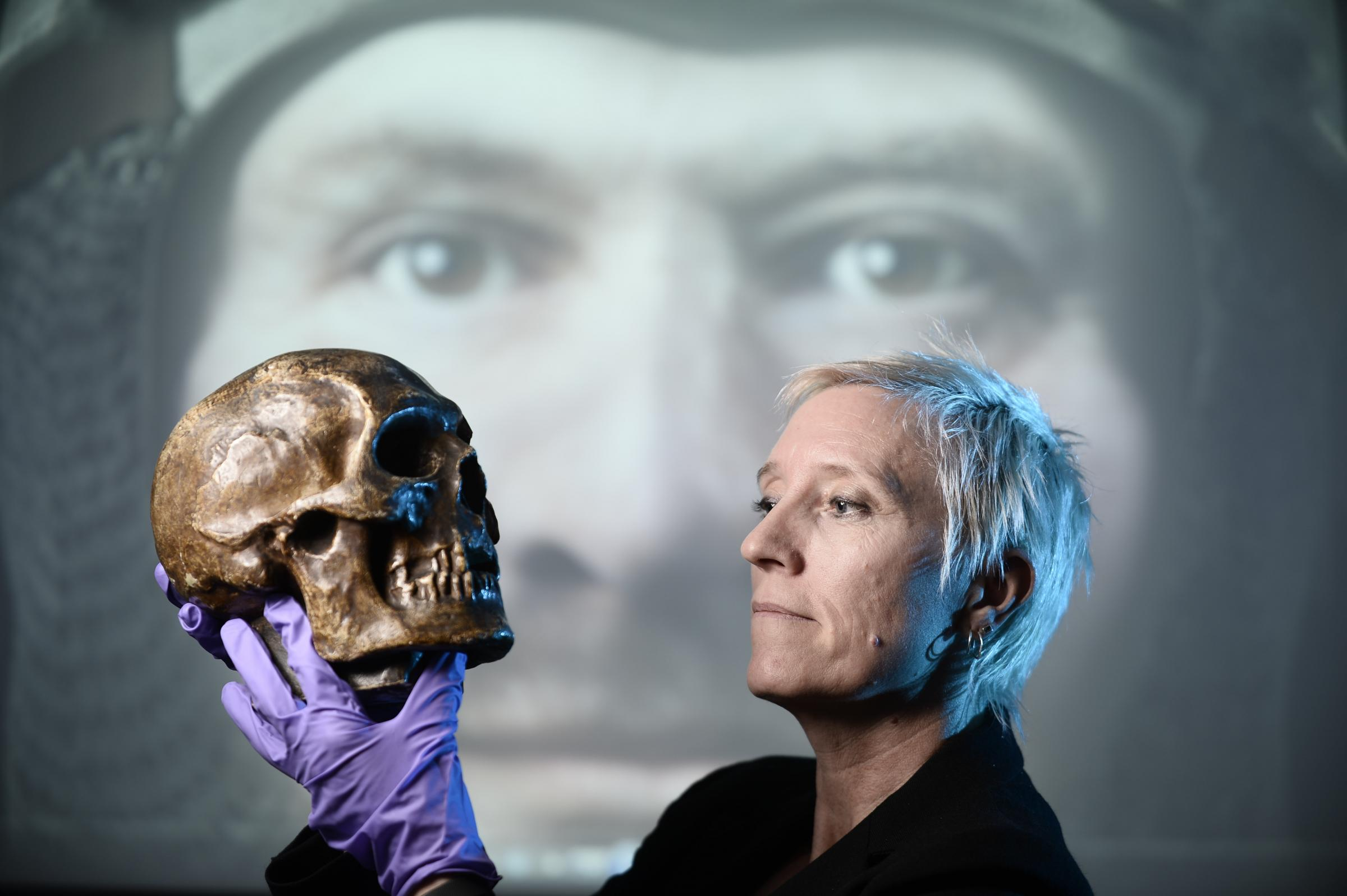 Caroline Wilkinson used the skull found in King Robert I's tomb to create a rendering of the king's face