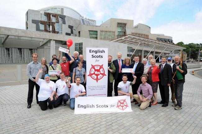 English Scots for Yes gather for their relaunch at Holyrood