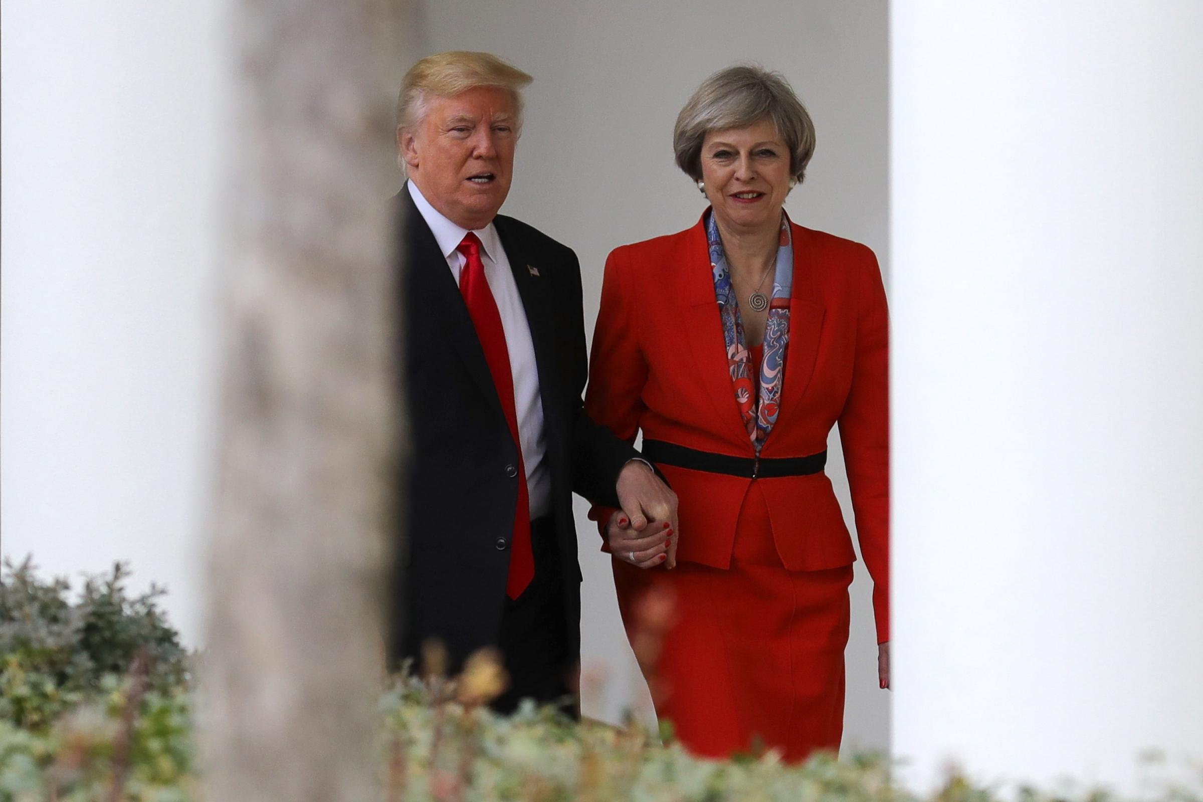 Hand of friendship: Trump and May