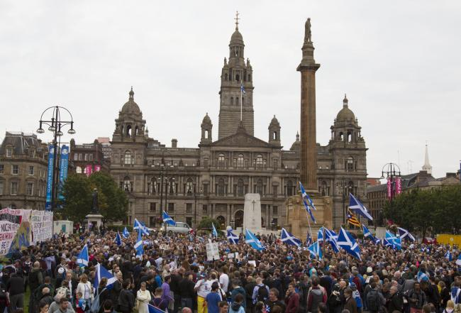 Thousands turn out in George Square Glasgow, and will now see similar marches in solidarity elsewhere