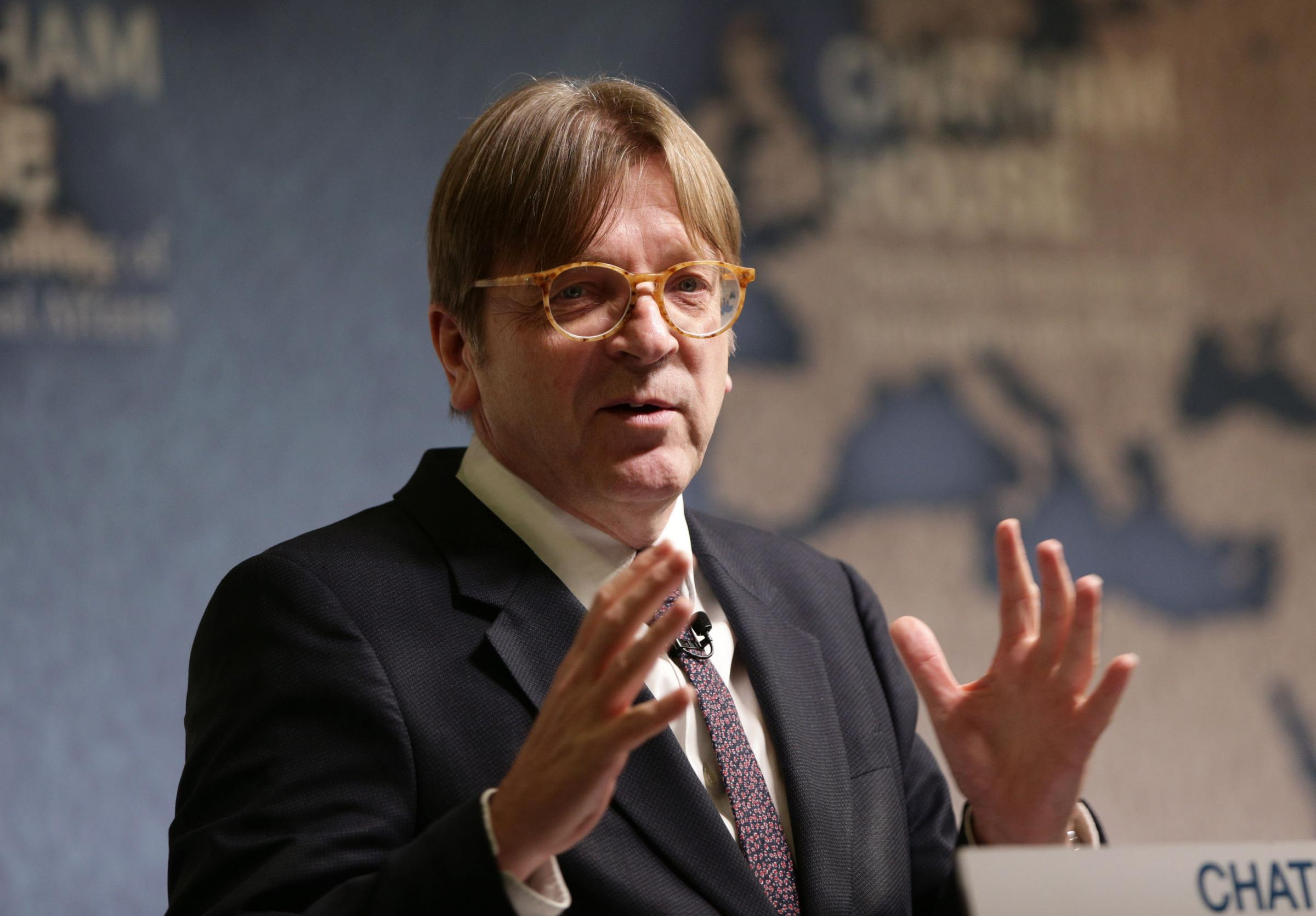 Guy Verhofstadt says Europe hasn't forgotten Scotland voted Remain