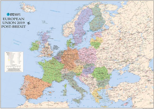 We need to be ready\': German firm starts selling \'EU 2019\' map with ...