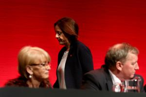 Labour fell into third behind the Conservatives at the last Scottish election