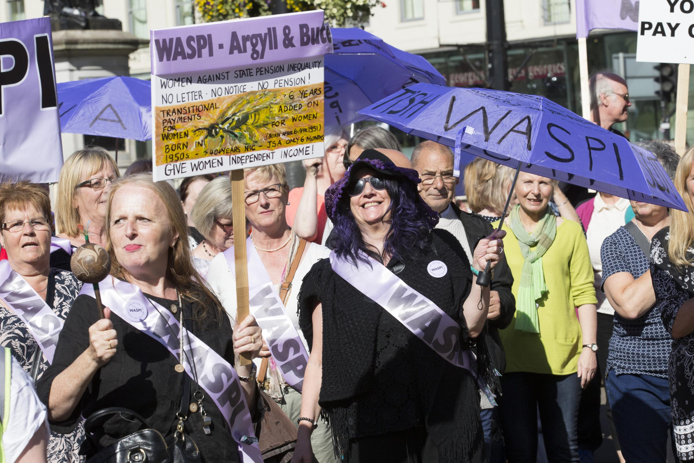 The WASPI protest in London yesterday