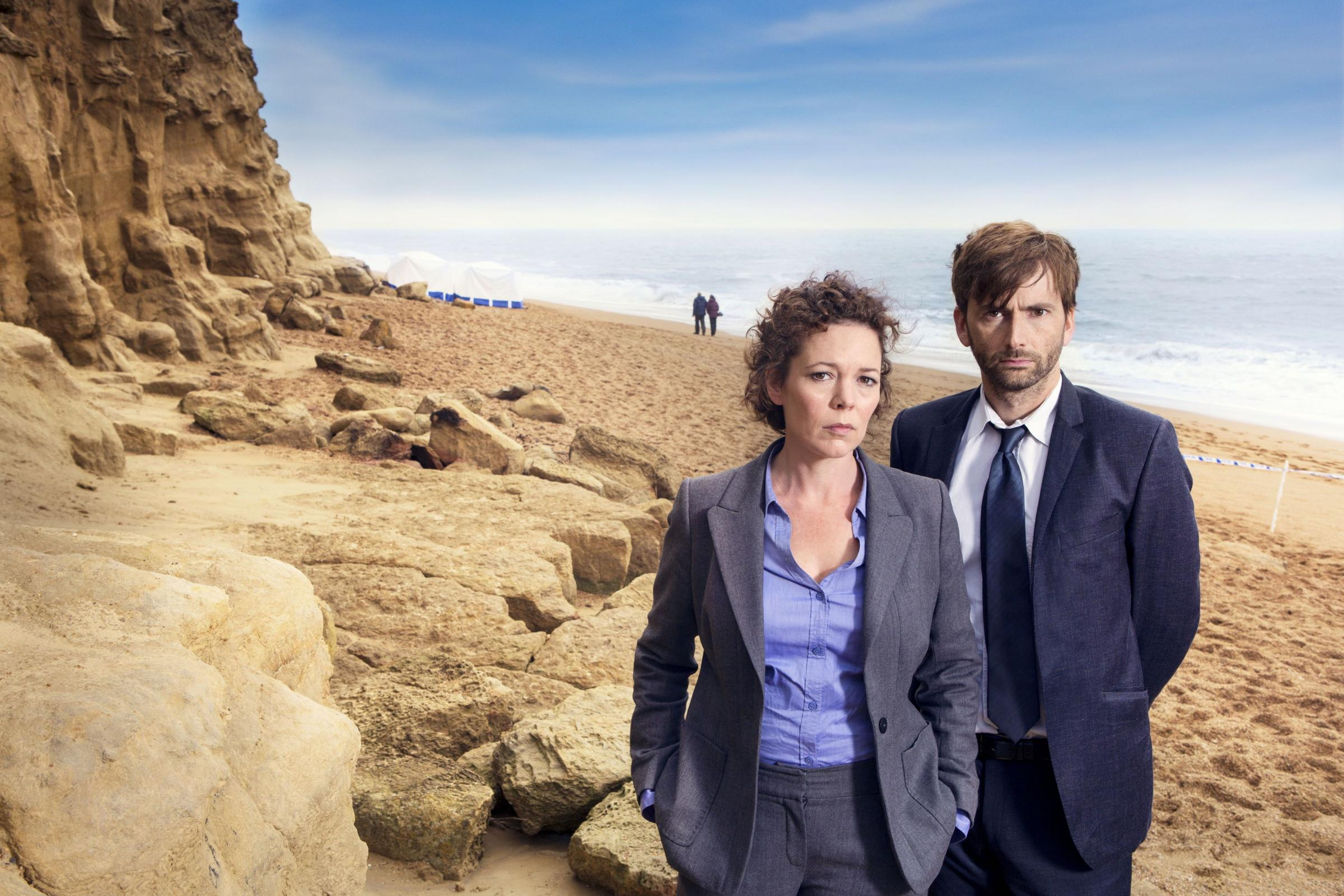 Olivia Colman and David Tennant in Broadchurch. The pre-emptive praise the ITV show attracted overlooked the fact it portrays an atypical rape case