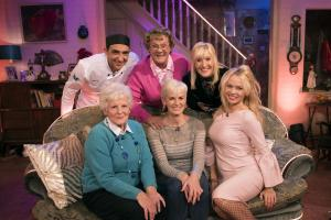 Judy Murray looks uncomfortable on Mrs Brown's sofa