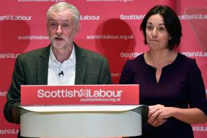 Kezia Dugdale (right) has grown more and more fretful of a second independence referendum. Photograph: Jeff J Mitchell/Getty