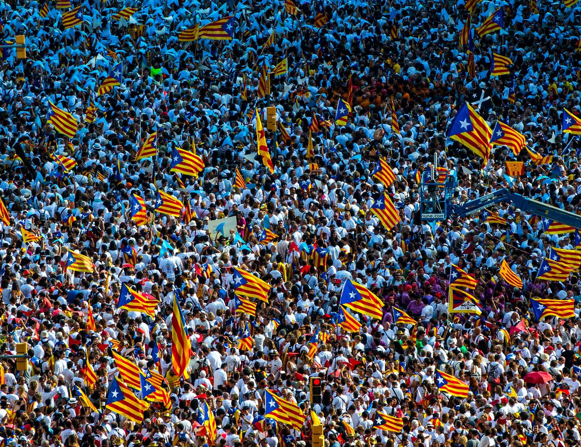 Over 400 Catalan officials face indictment under the constitution which enshrines Franco's idea of an indivisible Spain                  Photograph: David Ramos/Getty Images