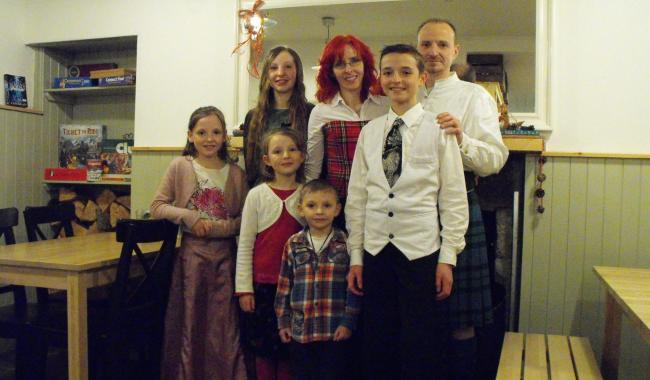 The Zielsdorfs have lived in Scotland for eight years, but will be deported next month