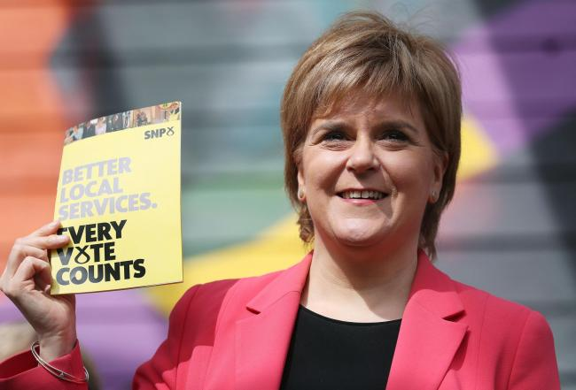 First Minister Nicola Sturgeon has kicked off the SNP's local election manifesto
