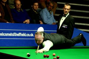 John Higgins was in eimperious form as he booked his place in the semi-final