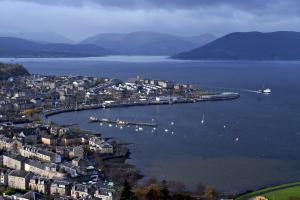 A stunning view of Gourock Bay and beyond taken from Greenock's Lyle Hill