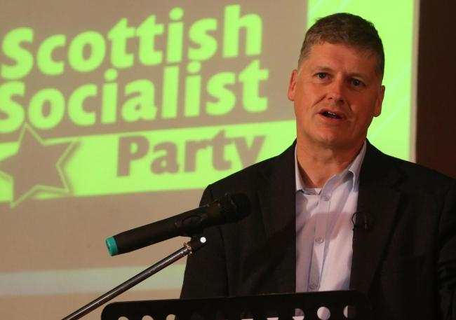 Colin Fox, leader of the Scottish Socialist Party, has launched his party's manifesto Photograph: Gordon Terris