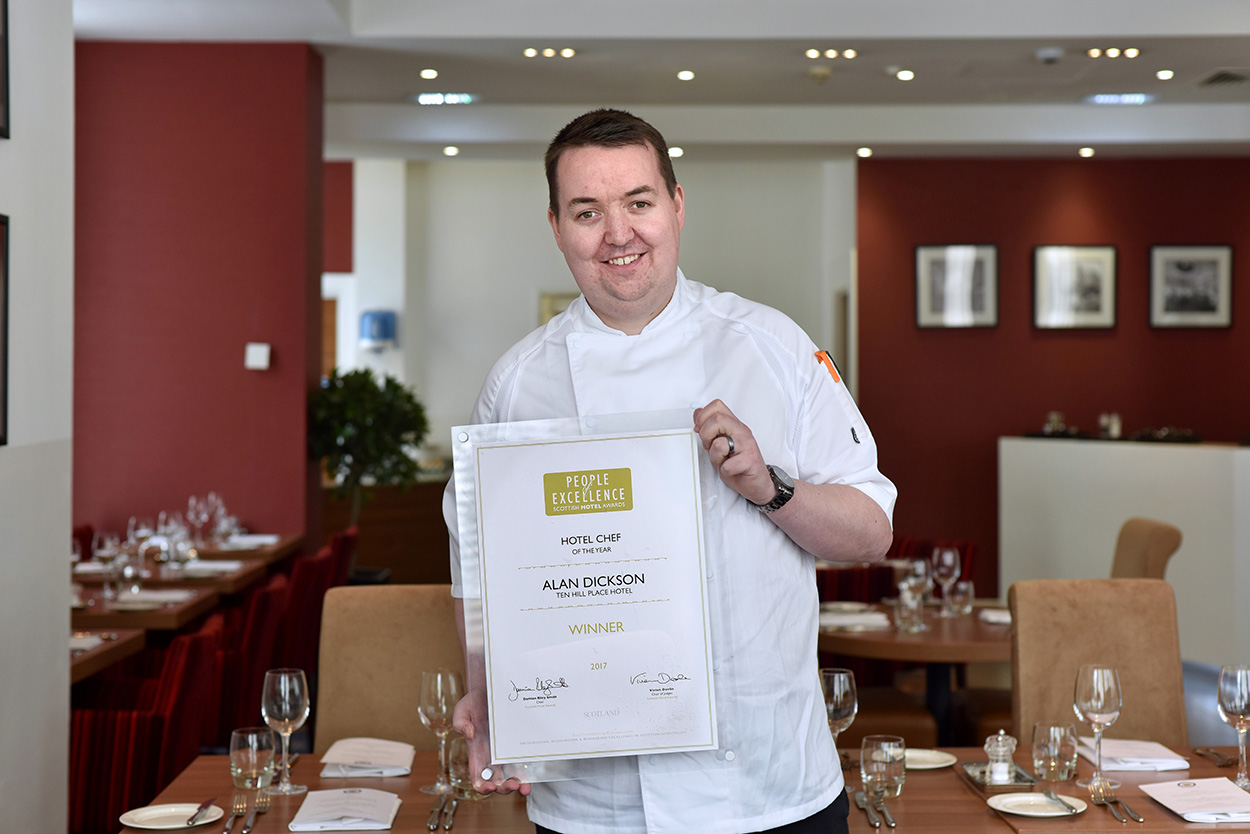 Alan Dickson, of the No 10 Restaurant, Ten Hill Place Hotel, topped a tough competition