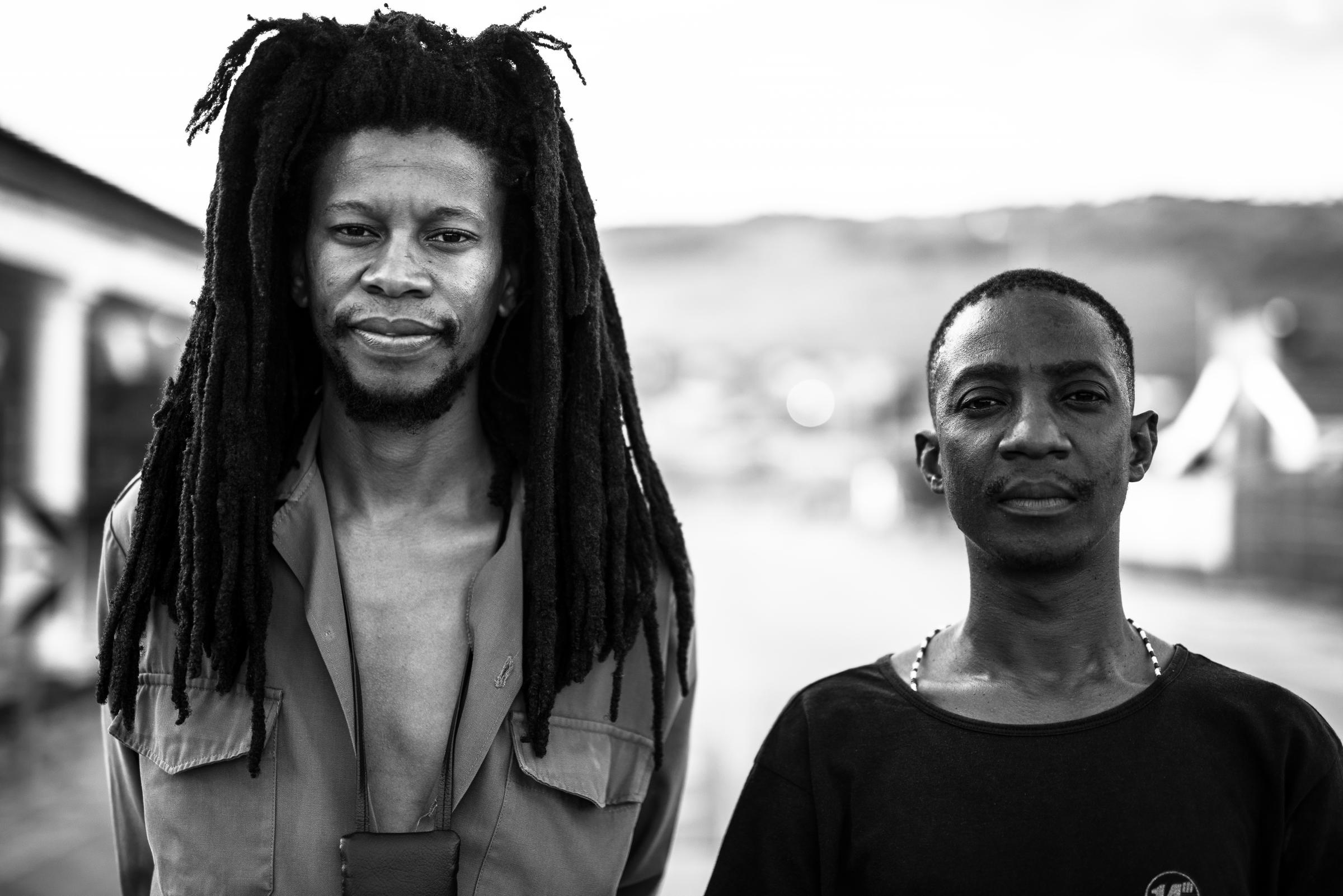 Sibusile Xaba, left, and Thabang Tabane will collaborate with UK-based musicians