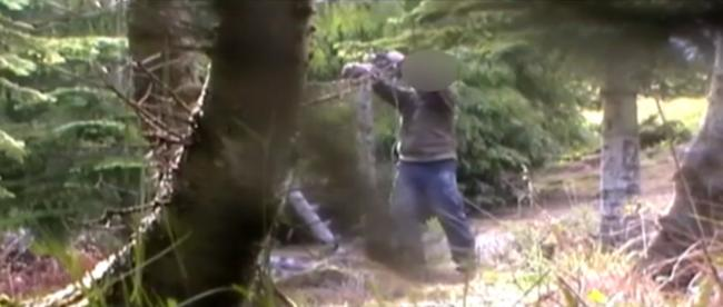 A still from the video footage that was at the centre of the case