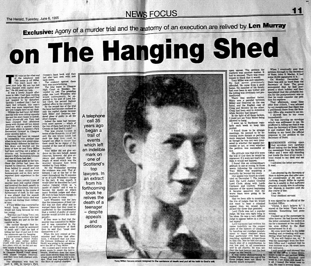 How the hanging of a 19-year-old Scot turned the tide against the ...