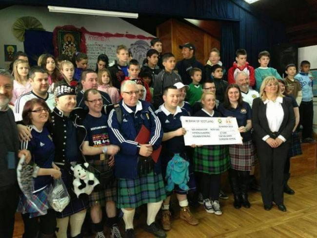 The Tartan Army Sunshine Appeal will be doing a bike ride challenge of almost 500 miles, when they will cycle from Wembley Stadium in London to Hampden Park in Glasgow