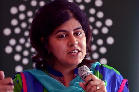 The National: Baroness Sayeeda Warsi was on hand to speak at the Muslim Womens conference in Bingley.