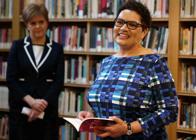 Jackie Kay, Scots Makar and a poet whose voice is distinctive thanks to Scots