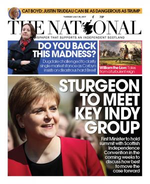 The National: Make sure you pick up today's edition of The National – available in all good newsagents unless it's been hidden by Unionists!