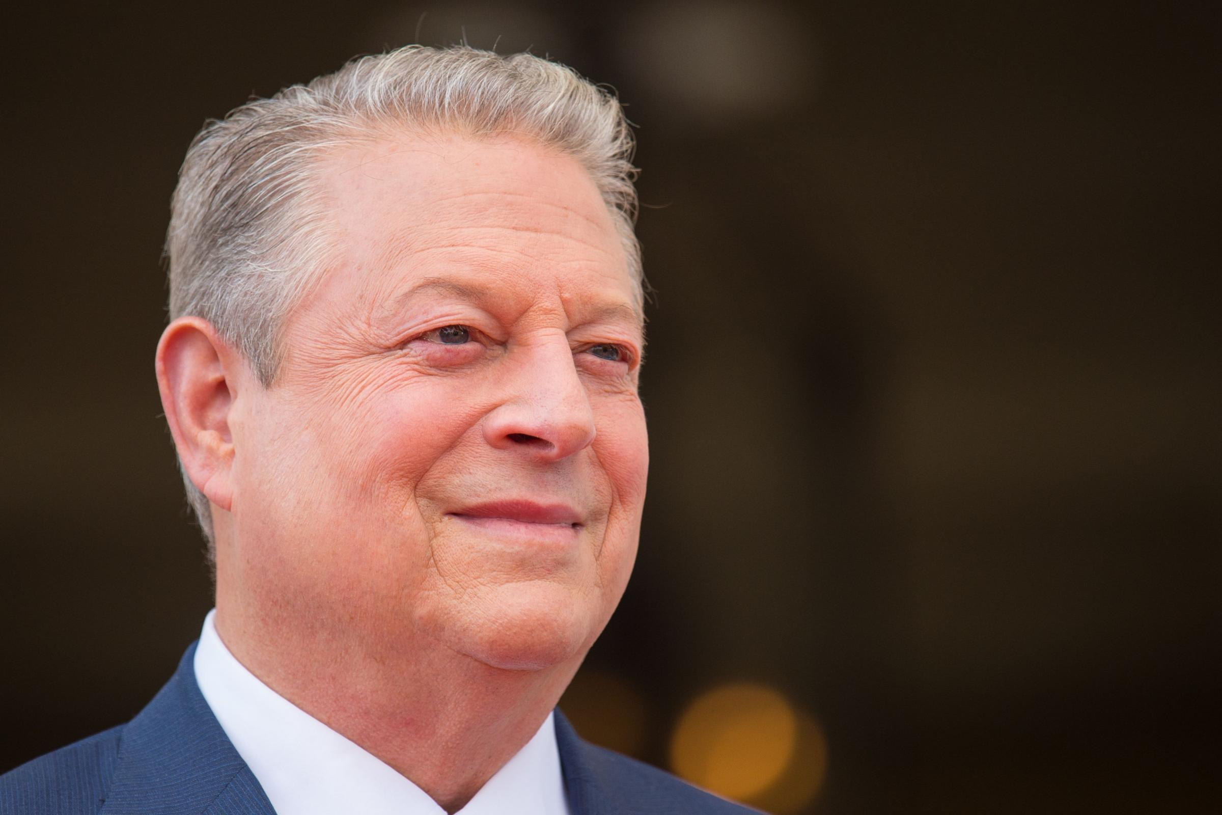 Former US vice-president Al Gore paused the interview to make the comment