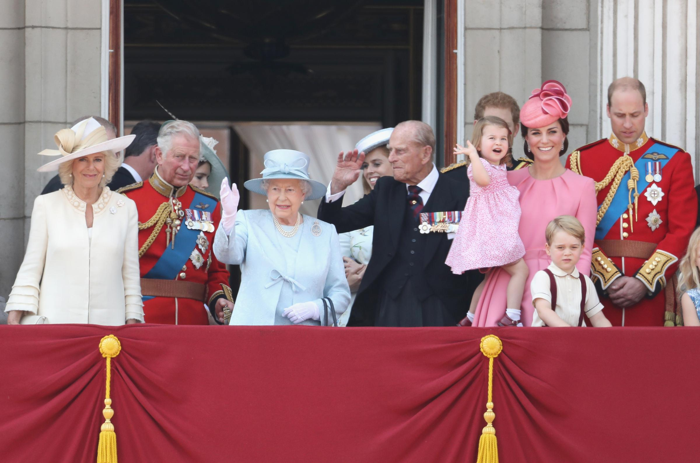 The Royal Family at Buckingham Palace during the Trooping the Colour parade in June this year. Photograph: Chris Jackson/Getty Images