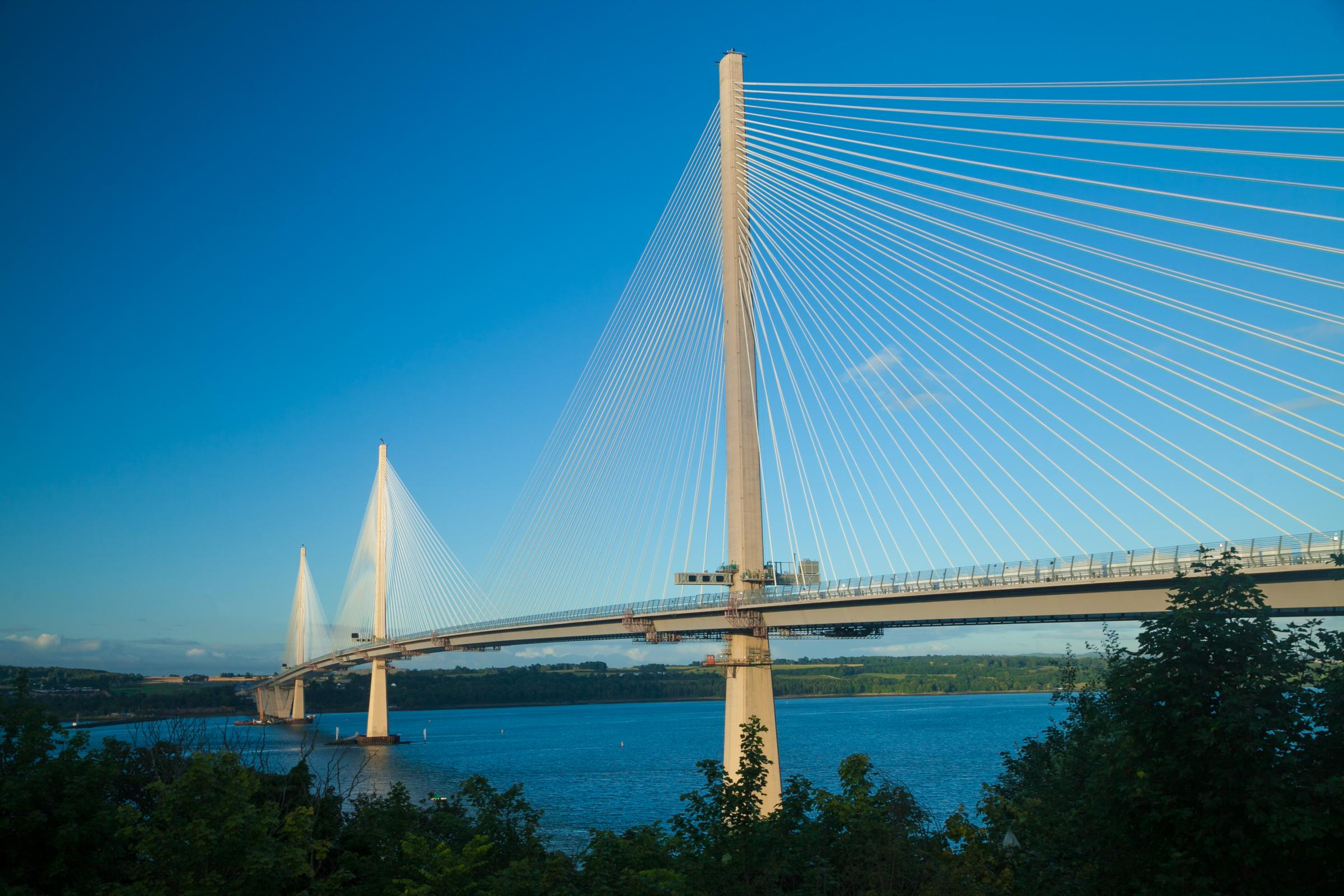 The Queensferry Crossing was able to remain open during high winds that would have restricted traffic on the Forth Road Bridge