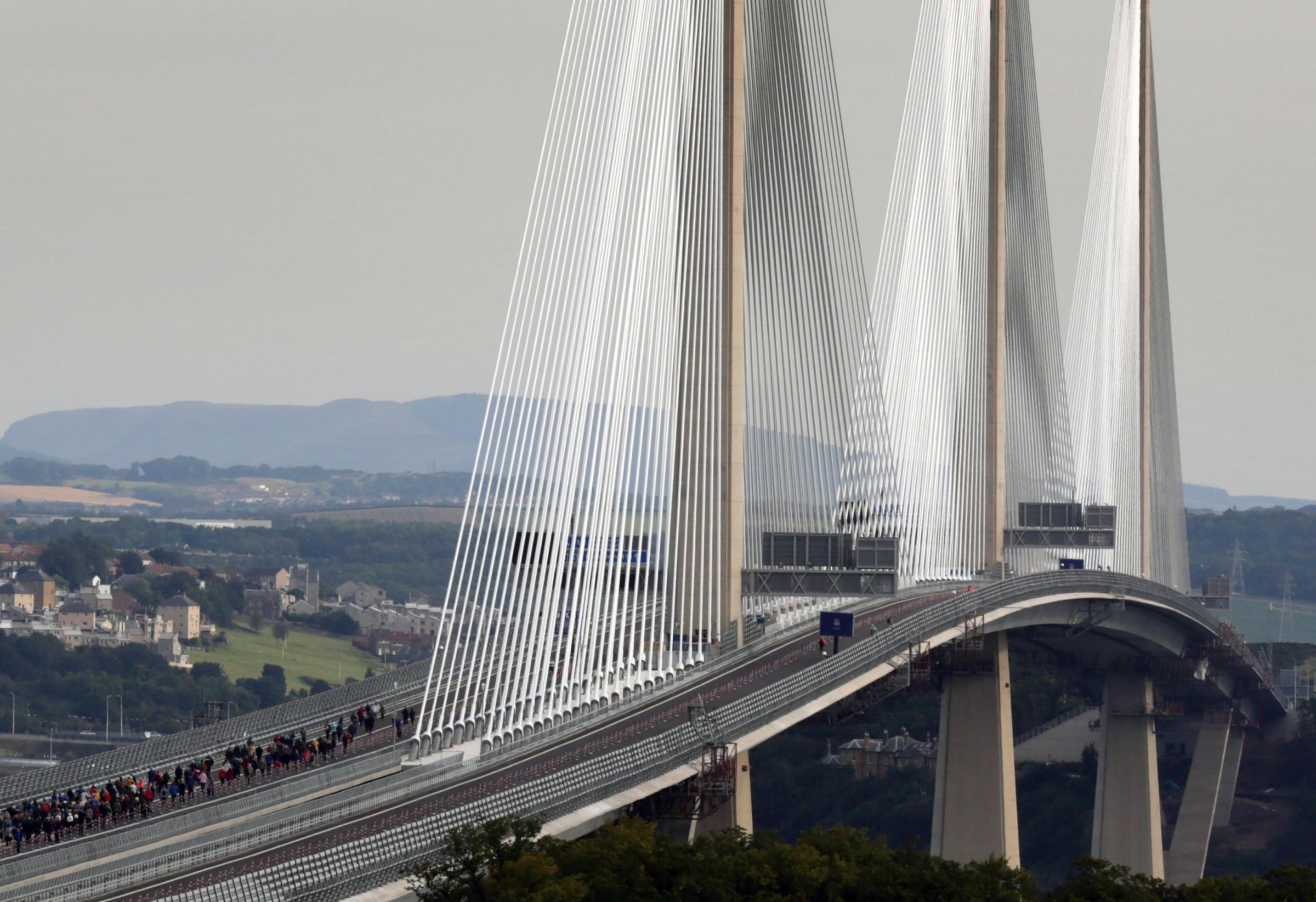 Competition winners walked across the Queensferry Crossing over the weekend, ahead of the official opening