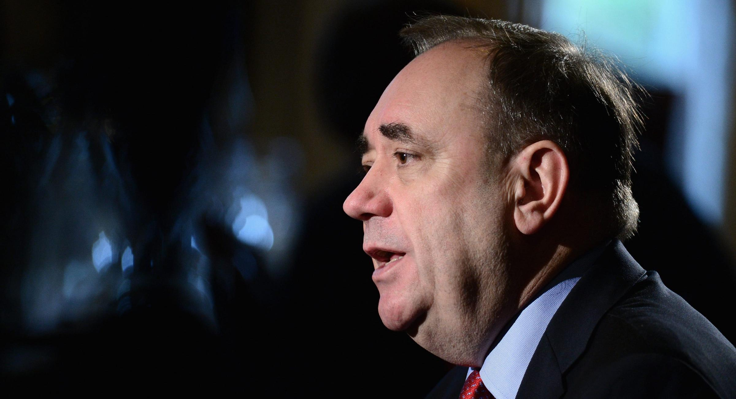 Alex Salmond said joining the trade organisation would bring economic benefits to a newly independent Scotland