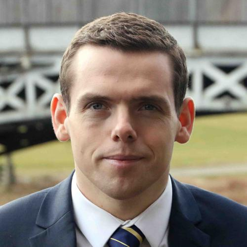 The National: Undated handout file photo of Conservative MP Douglas Ross who has apologised for saying his priority as prime minister would be to bring in ''tougher enforcement against gypsy travellers''. PRESS ASSOCIATION Photo. Issue date: Friday Augu