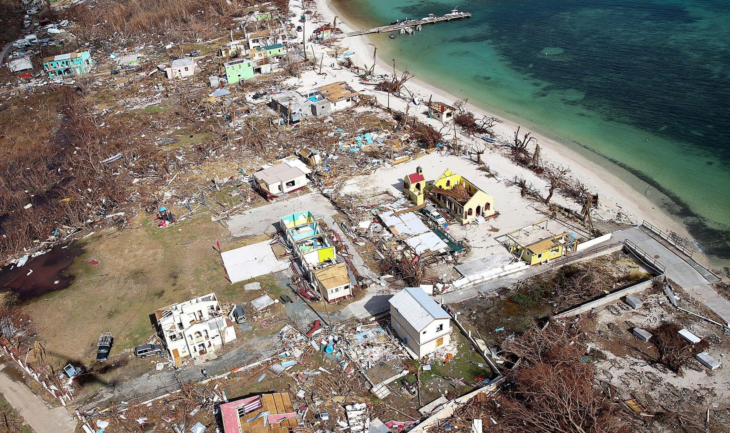 Hurricane Irma has done huge damage to the island of Jost Van Dyke in the British Virgin Isles