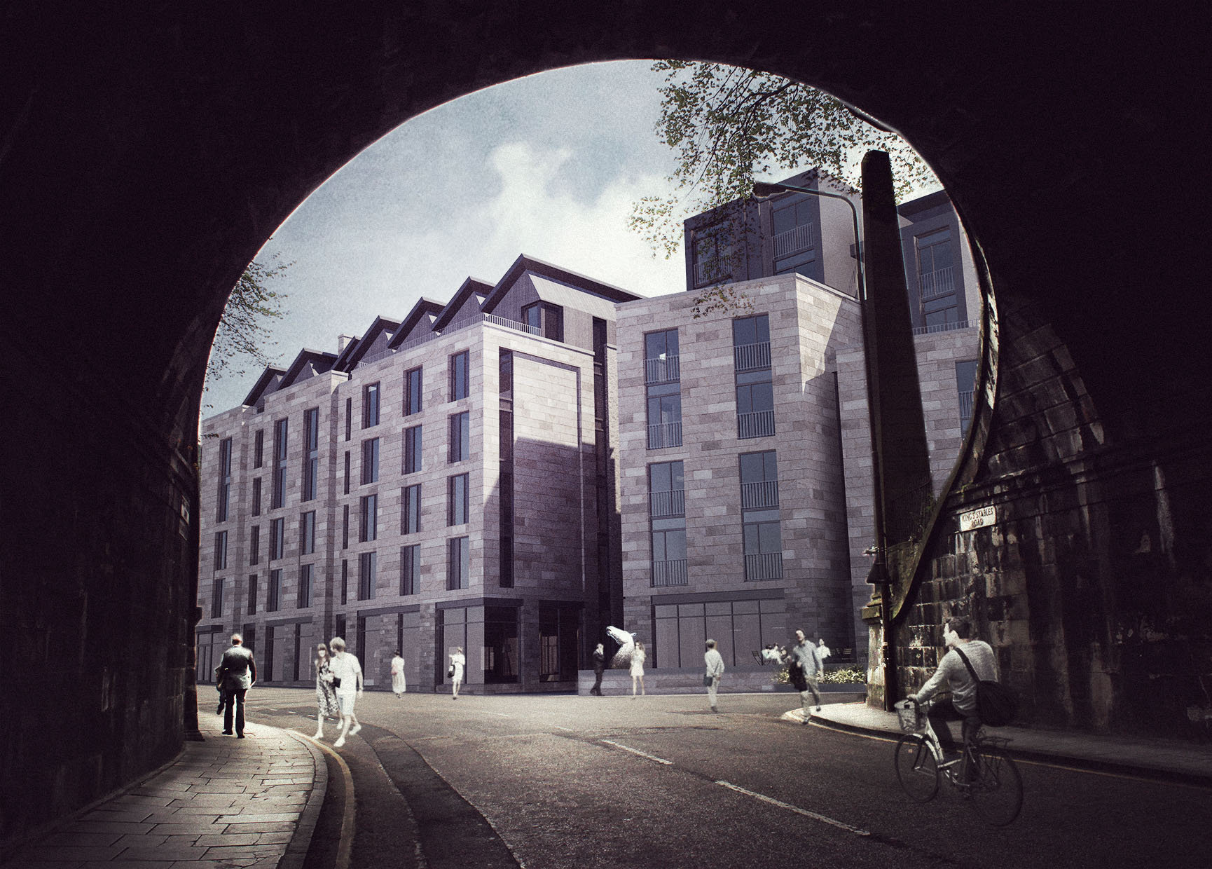 An artist's impression of the new Wilde Aparthotel in Edinburgh's King's Stables Road