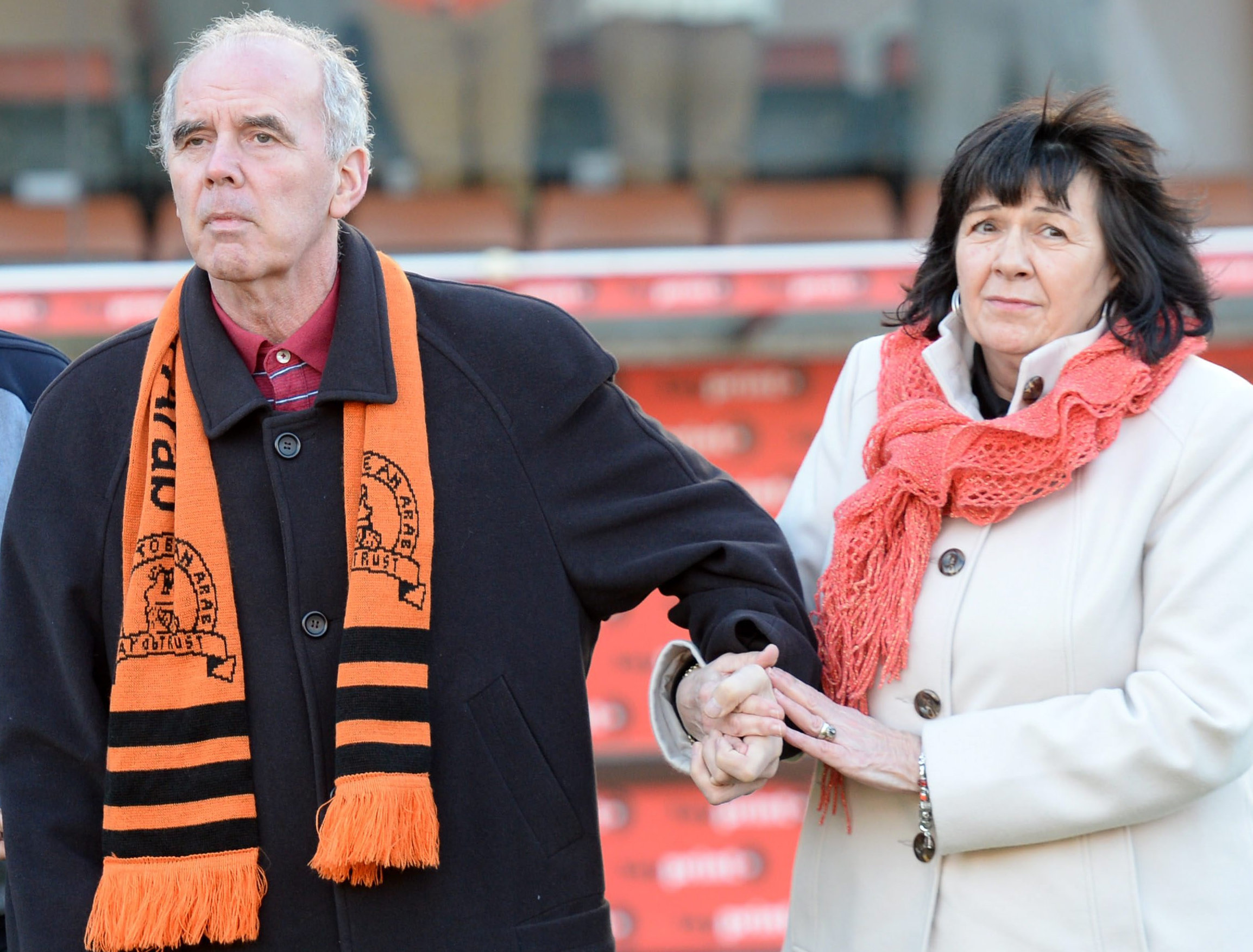 'Frank's Law' is nemmed fir former fitba star Frank Kopel, pictured wi his wife Amanda