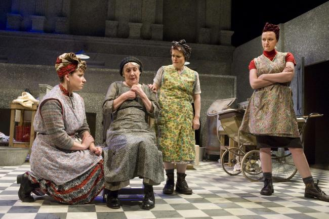 From left: Jacqueline Hughes, Kay Gallie, Maureen Carr and Julie Austin in The Steamie at the King's Theatre