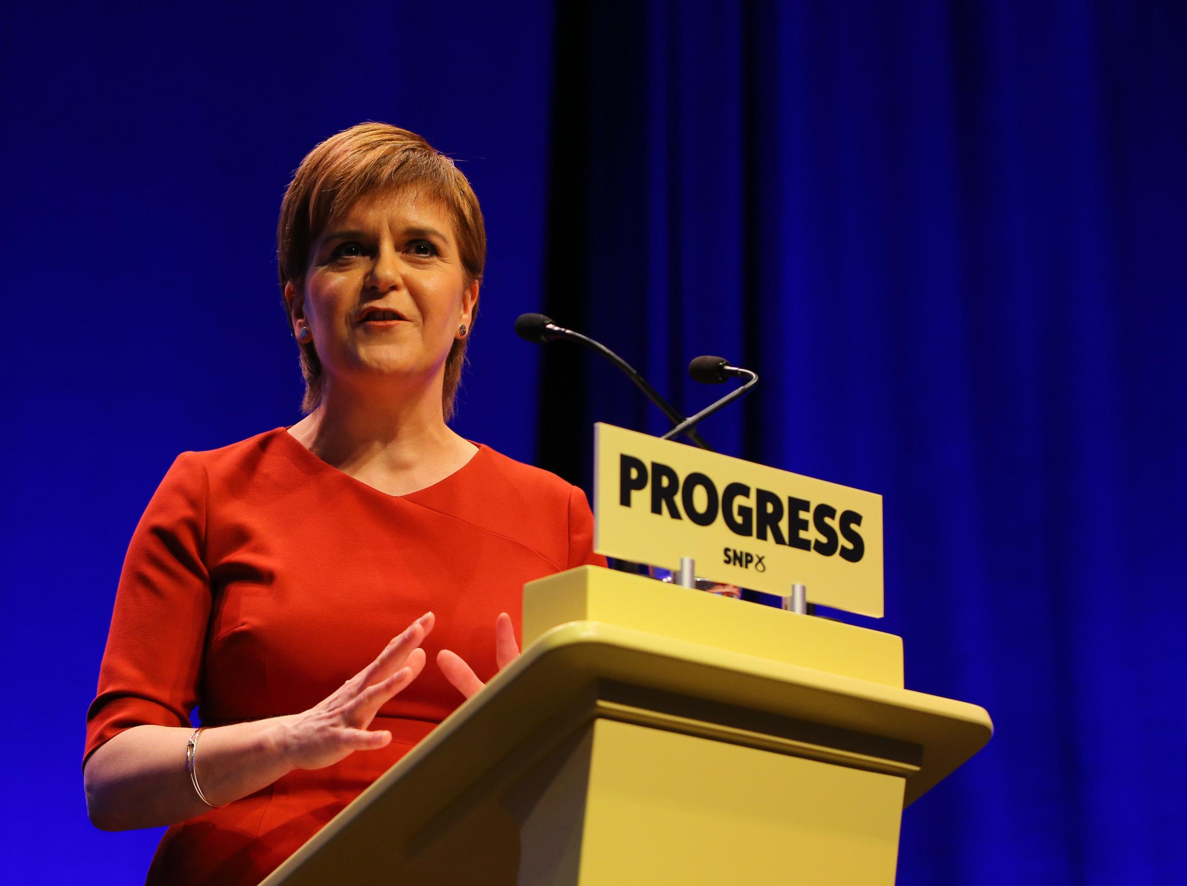 Nicola Sturgeon offered a message of hope during her SNP conference speech. Photograph: Colin Mearns