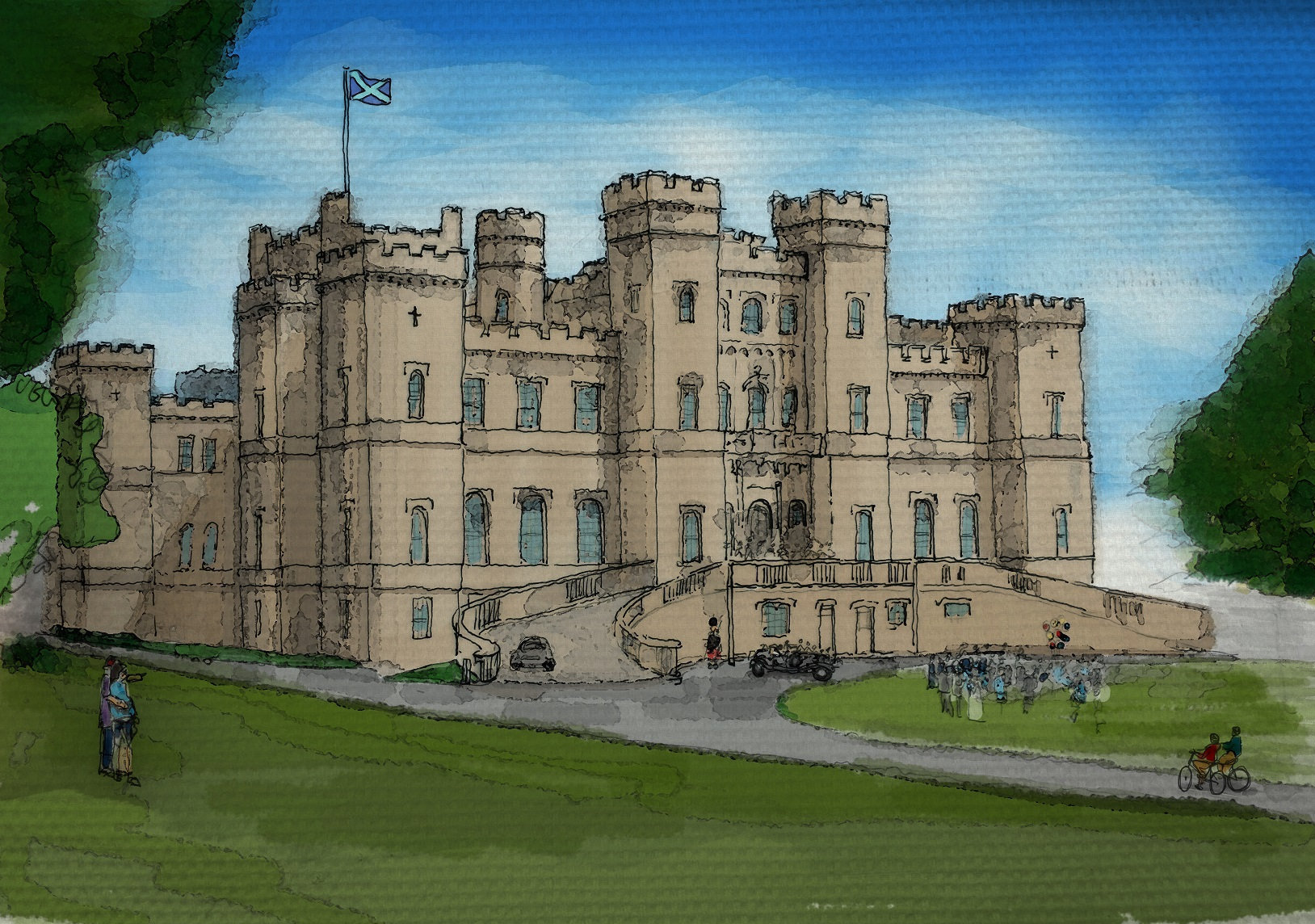 An artist's impression of how the ruined Loudoun Castle would look once transformed into a luxury hotel