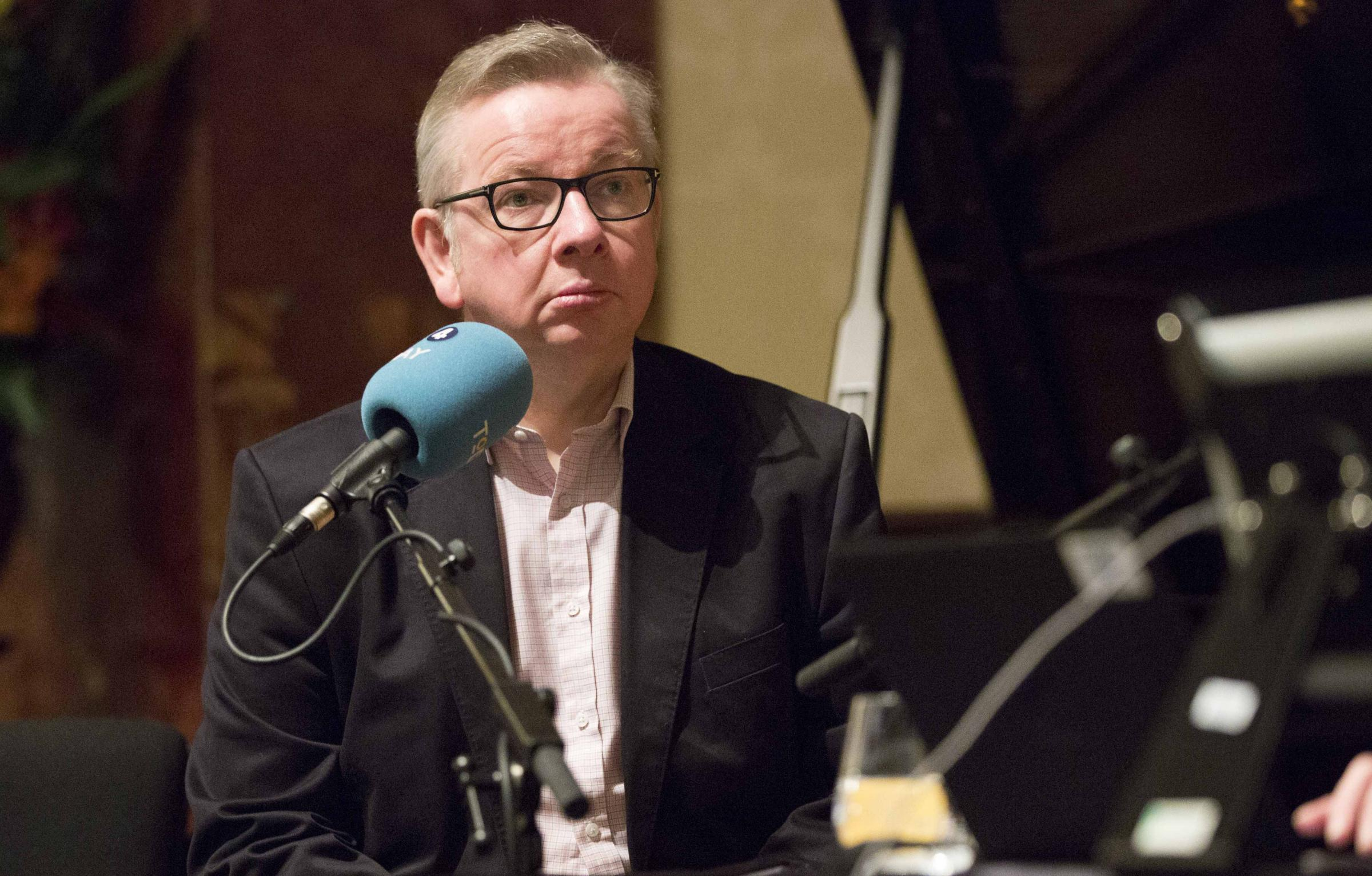 Environment Secretary Michael Gove suggested that being interviewed by BBC Radio 4 presenter John Humphrys was like 'going into Harvey Weinstein's bedroom'. Photograph: Rick Findler/PA Wire