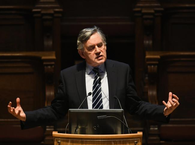 Gordon Brown was this week speaking at the University of Glasgow. Photograph: Getty