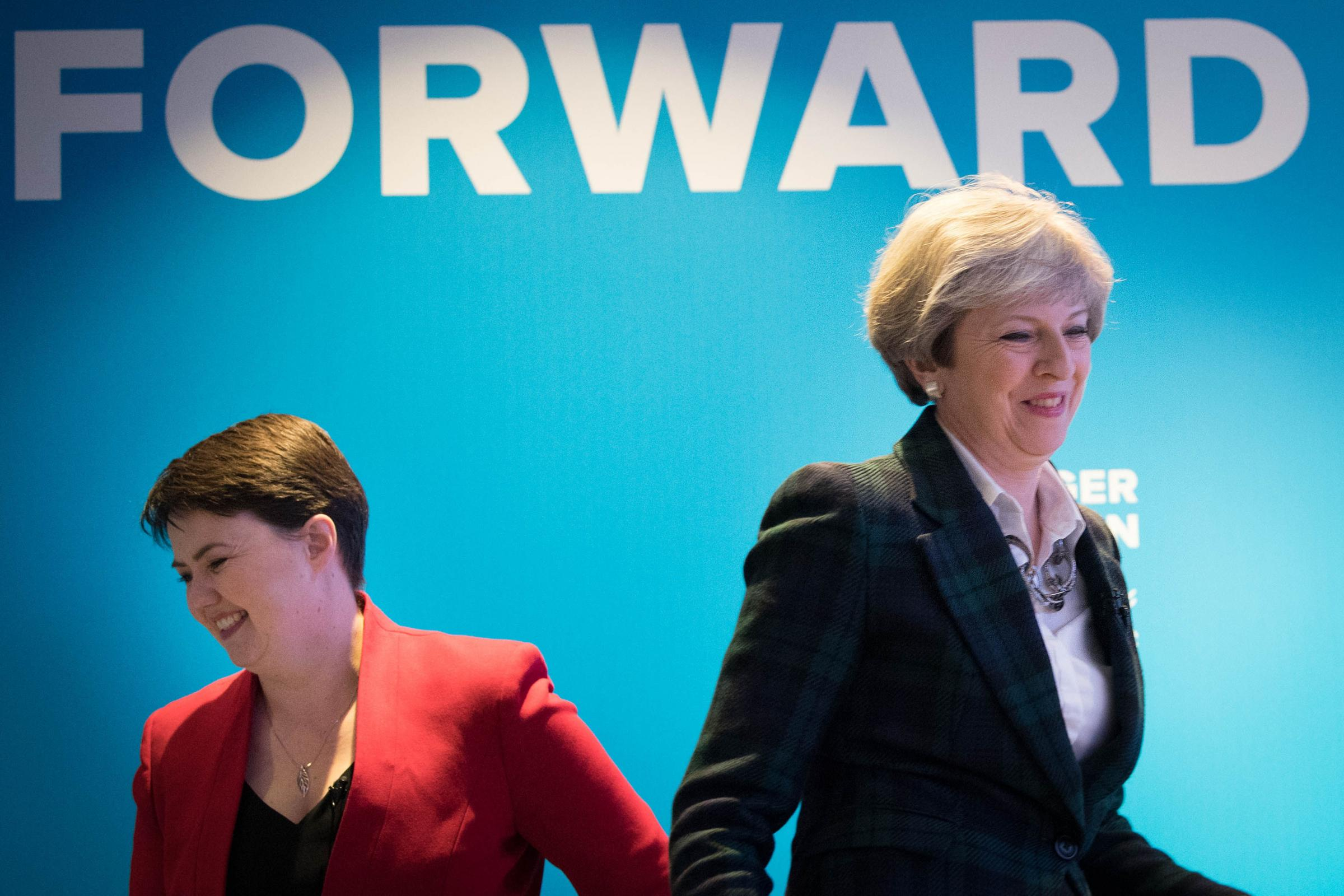 Ruth Davidson gave the impression her MPs would back the SNP's amendment ... instead they backed Theresa May's government